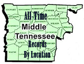 Middle Tennessee All Time Records By Location
